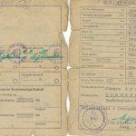 Zulassungsschein Januar 1957